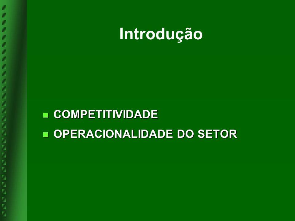 Introdução COMPETITIVIDADE COMPETITIVIDADE OPERACIONALIDADE DO SETOR OPERACIONALIDADE DO SETOR