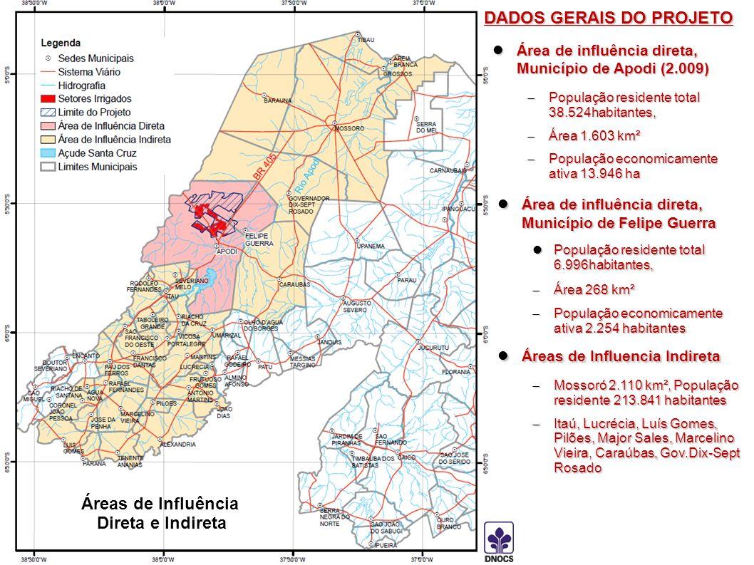 Área de influência direta, Município de Apodi (2.009) Área de influência direta, Município de Apodi (2.009) População residente total 38.524habitantes