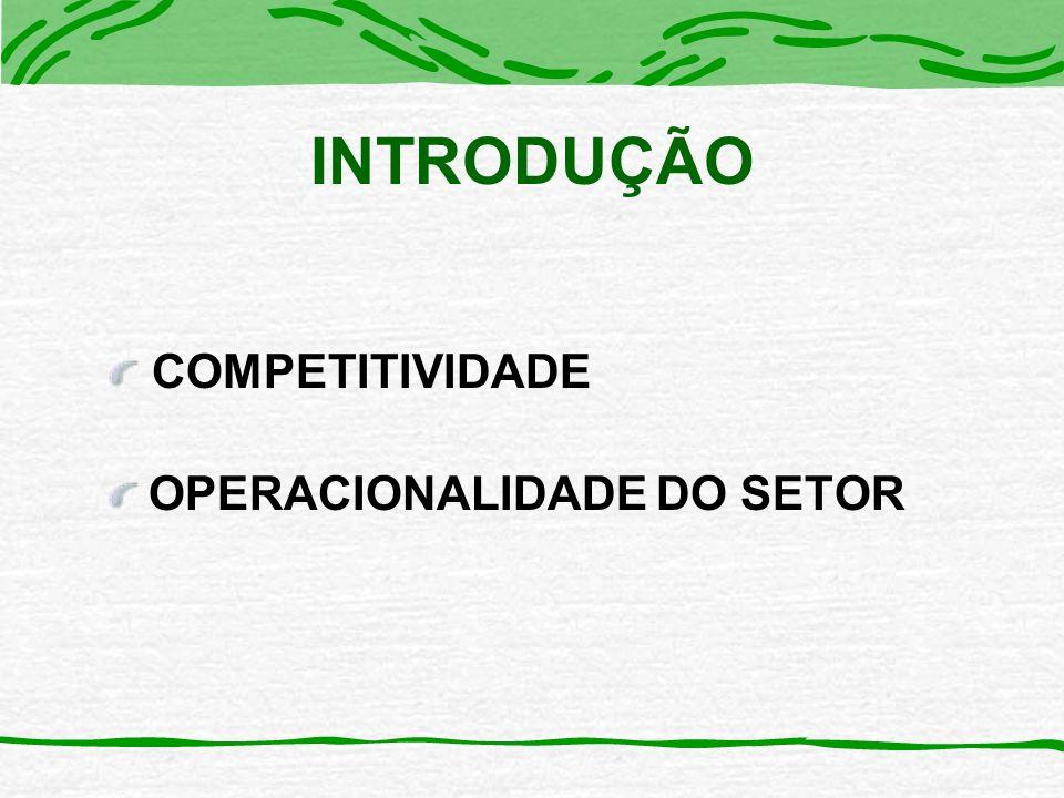 OPERACIONALIDADE DO SETOR COMPETITIVIDADE INTRODUÇÃO