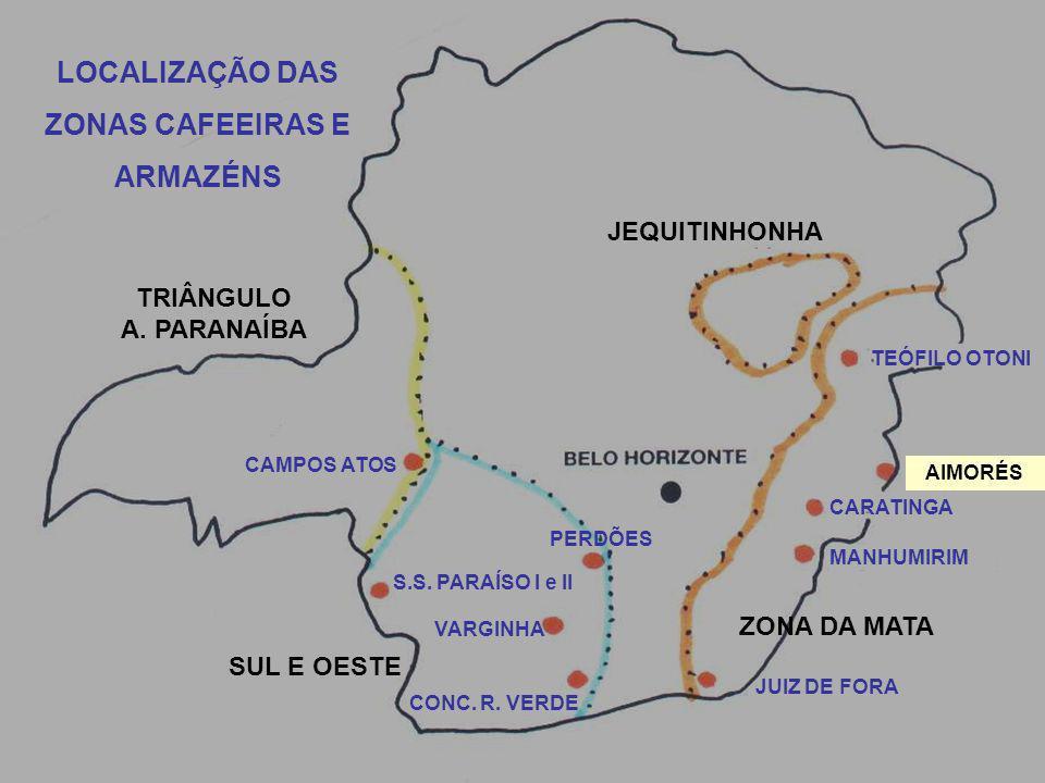 JEQUITINHONHA TEÓFILO OTONI AIMORÉS CARATINGA MANHUMIRIM ZONA DA MATA JUIZ DE FORA CONC.
