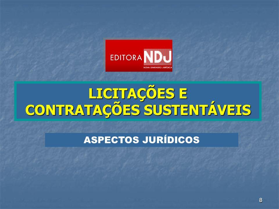 59 Programa de Contratações Sustentáveis LICITAÇÕES E CONTRATAÇÕES SUSTENTÁVEIS O ESTADO AGE COMO INDUTOR DE POLÍTICAS SOCIAIS E PÚBLICAS DETÉM ELEVADO PODER DE CONTRATAÇÃO DEVE INSTITUIR PROGRAMAS DE ESTÍMULO ÀS CONTRATAÇÕES ORIENTADAS POR CRITÉRIOS DE SUSTENTABILIDADE DEVE PROMOVER A DIVULGAÇÃO DE EVENTOS BANCO DE EDITAIS DE LICITAÇÕES SUSTENTÁVEIS