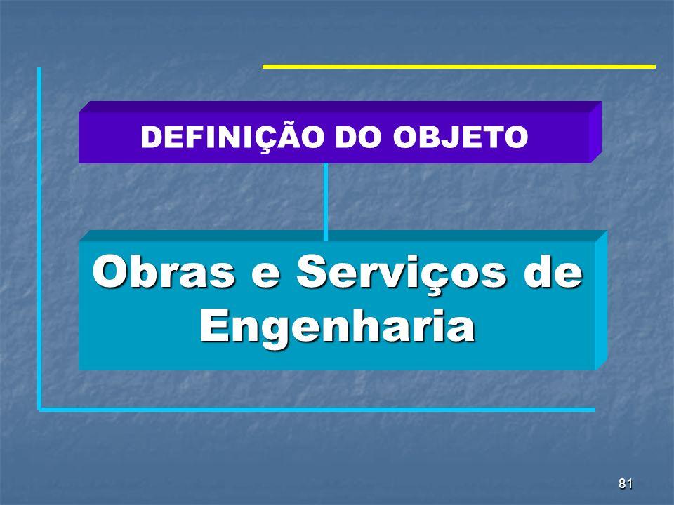 81 Obras e Serviços de Engenharia DEFINIÇÃO DO OBJETO