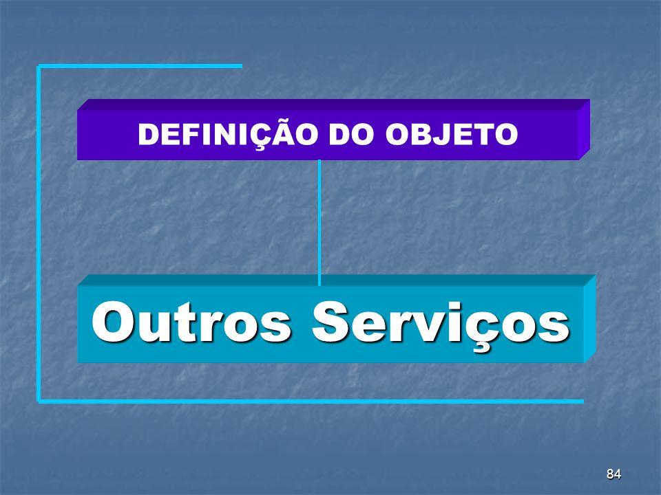 84 Outros Serviços DEFINIÇÃO DO OBJETO
