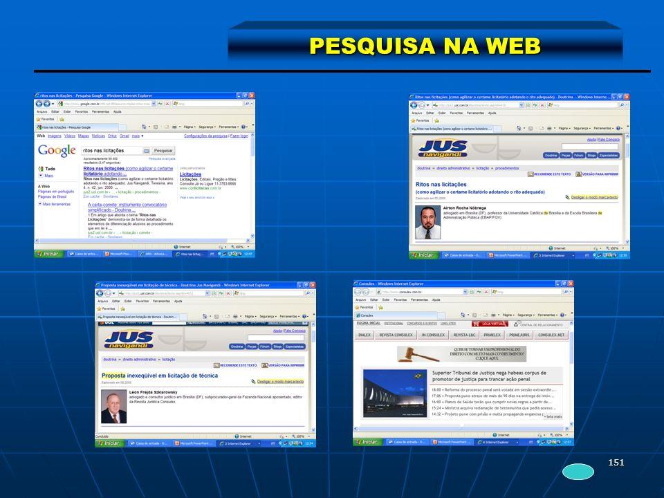 151 PESQUISA NA WEB