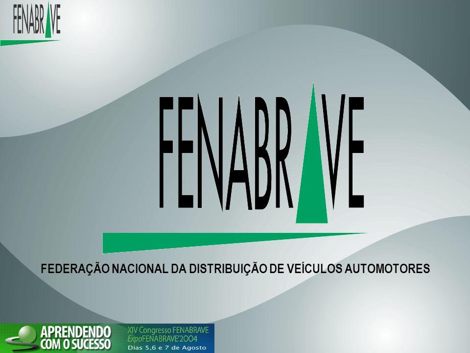 FEDERAÇÃO NACIONAL DOS DISTRIBUIDORES DE VEICULOS AUTOMOTORES A FENABRAVE possui 22 regionais, congrega 32 Associações de Marca existentes no país, representando 4.500 concessionárias que empregam aproximadamente 229.000 trabalhadores, abrangendo todo Território Nacional.