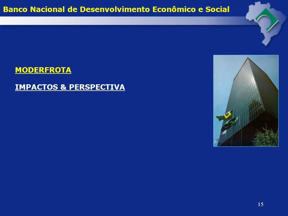 15 Banco Nacional de Desenvolvimento Econômico e Social MODERFROTA IMPACTOS & PERSPECTIVA