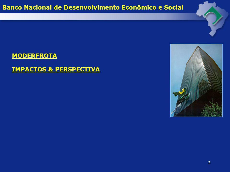 13 DESEMBOLSO POR REGIÃO NO MODERFROTA E NA LINHA ESPECIAL 2000 - 2004* Banco Nacional de Desenvolvimento Econômico e Social