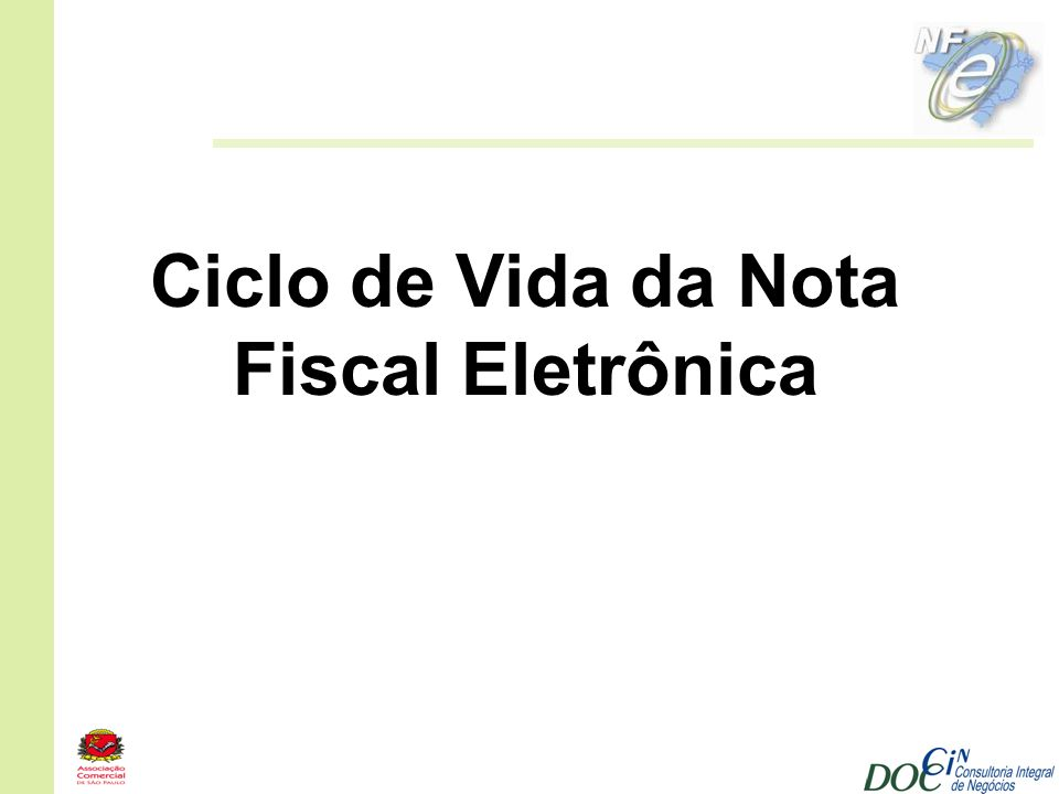 Ciclo de Vida da Nota Fiscal Eletrônica