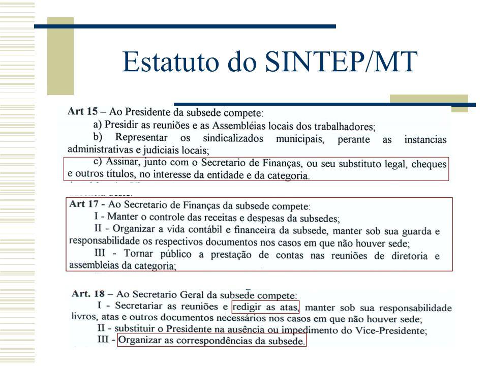 Estatuto do SINTEP/MT