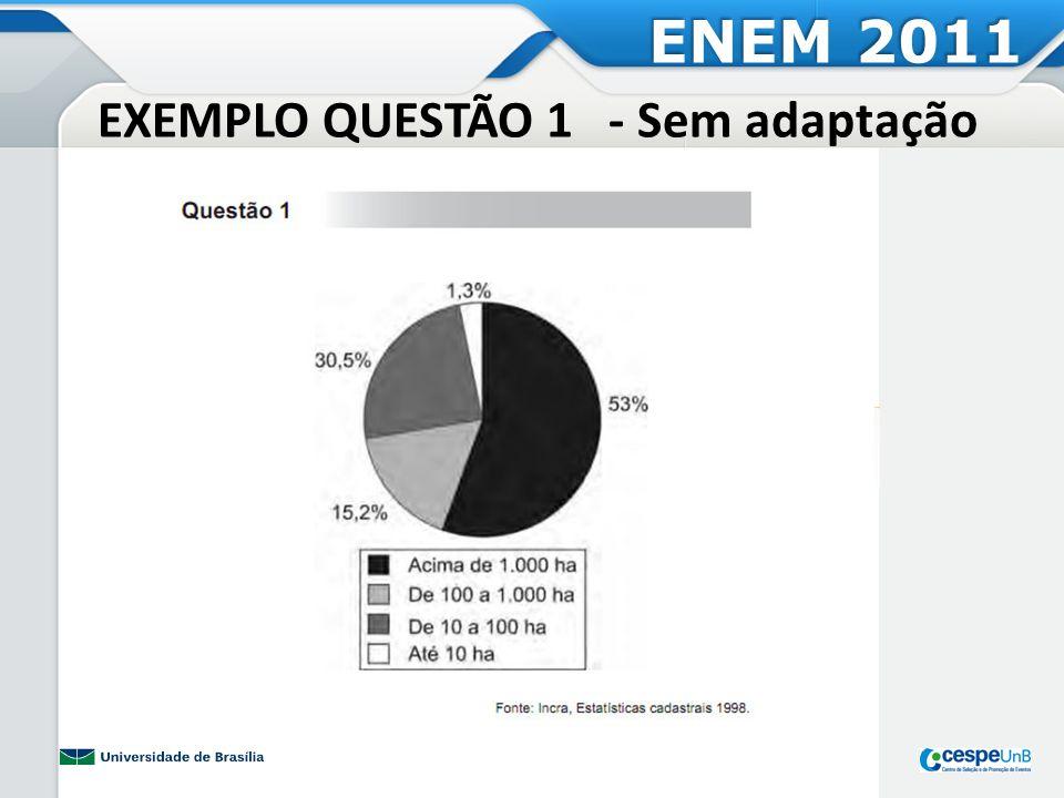EXEMPLO QUESTÃO 1 - Sem adaptação ENEM 2011
