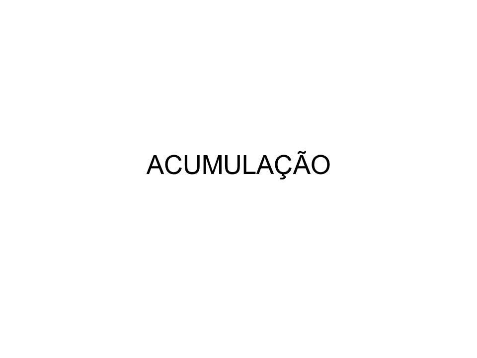 ACUMULAÇÃO