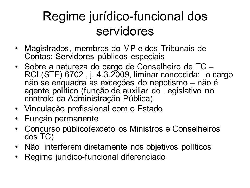 Regime jurídico-funcional dos servidores A lei federal 9.962/2000-regime de emprego para a Administração Pública federal.