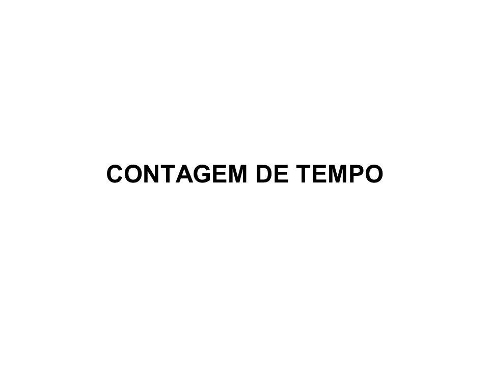 CONTAGEM DE TEMPO