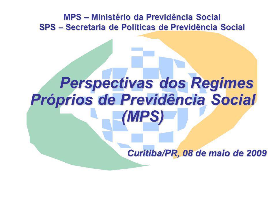 MPS – Ministério da Previdência Social SPS – Secretaria de Políticas de Previdência Social Perspectivas dos Regimes Próprios de Previdência Social (MP