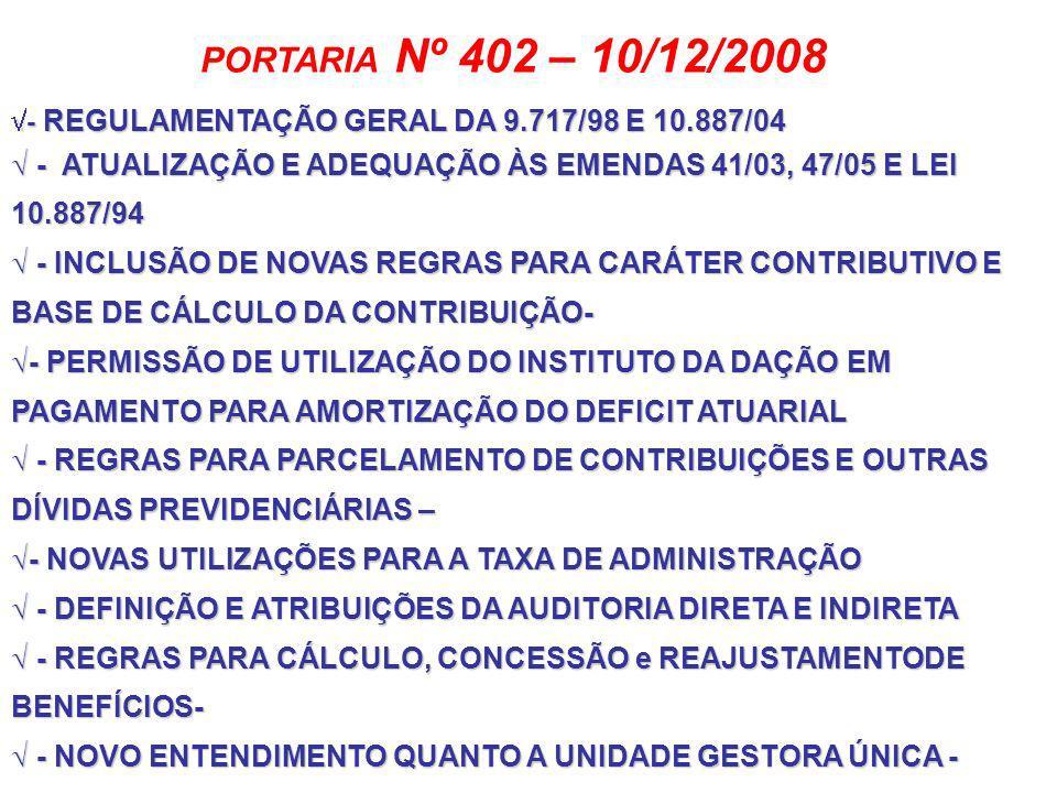 PORTARIA Nº 83- 19/03/09 O MINISTRO DE ESTADO DA PREVIDÊNCIA SOCIAL, resolve: Art.