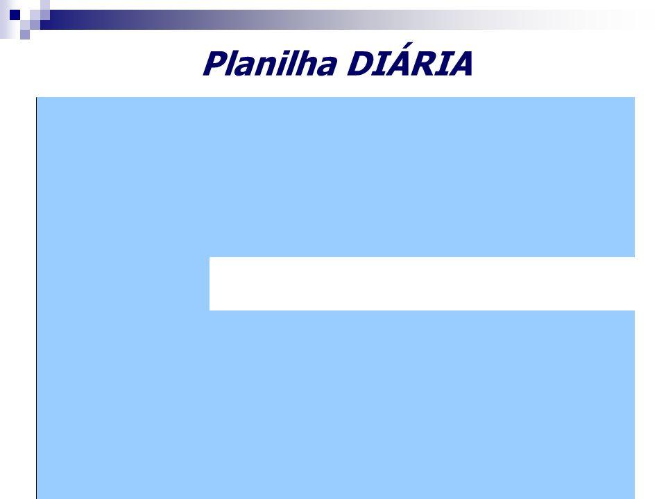 Planilha DIÁRIA
