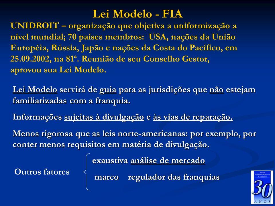 Lei Modelo - FIA Lei Modelo servirá de guia para as jurisdições que não estejam familiarizadas com a franquia. Informações sujeitas à divulgação e às