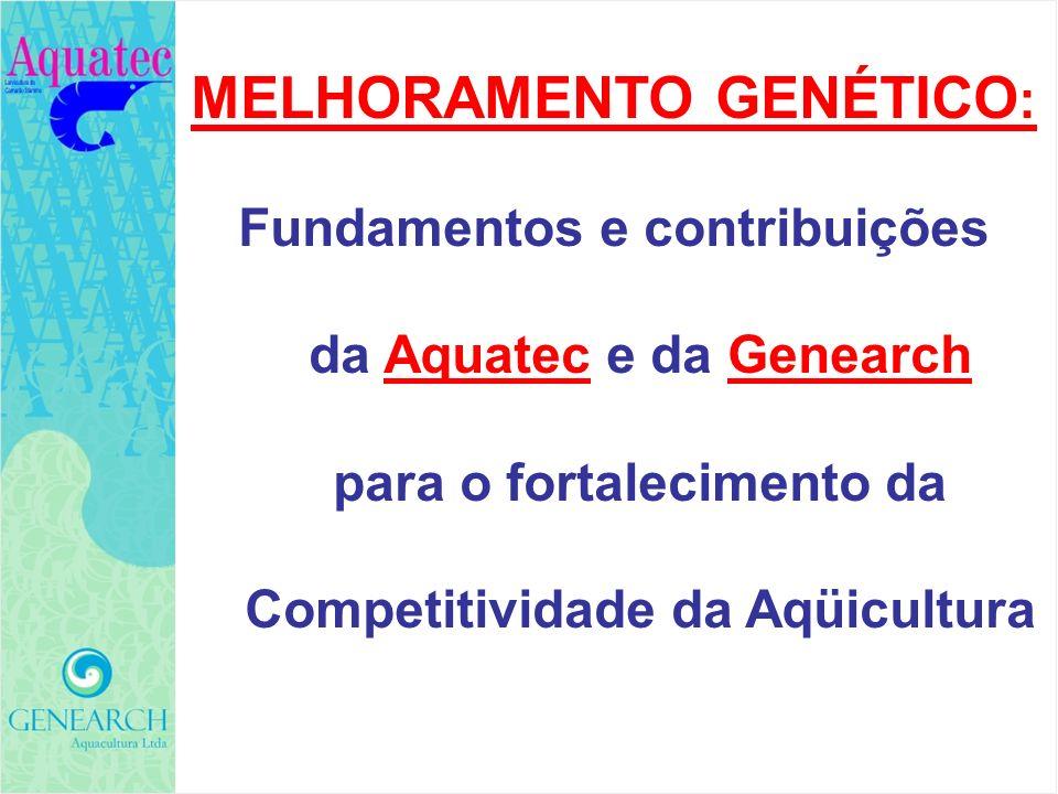 MELHORAMENTO GENÉTICO : Fundamentos e contribuições da Aquatec e da Genearch para o fortalecimento da Competitividade da Aqüicultura