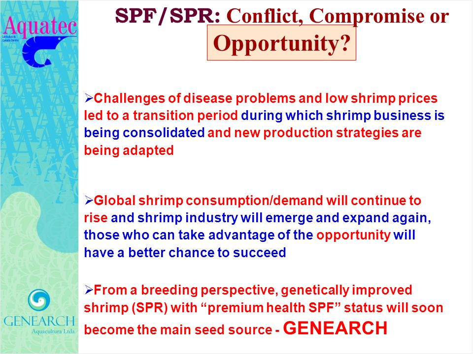 Challenges of disease problems and low shrimp prices led to a transition period during which shrimp business is being consolidated and new production