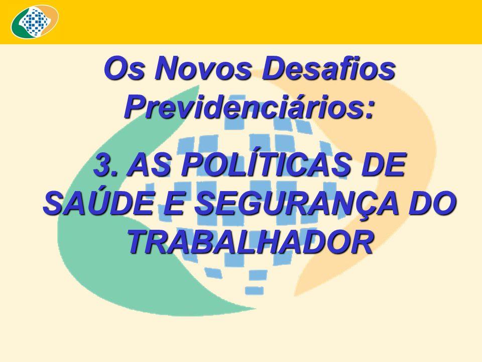 Os Novos Desafios Previdenciários: 3. AS POLÍTICAS DE SAÚDE E SEGURANÇA DO TRABALHADOR