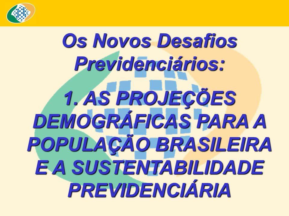 Os Novos Desafios Previdenciários: 1. AS PROJEÇÕES DEMOGRÁFICAS PARA A POPULAÇÃO BRASILEIRA E A SUSTENTABILIDADE PREVIDENCIÁRIA