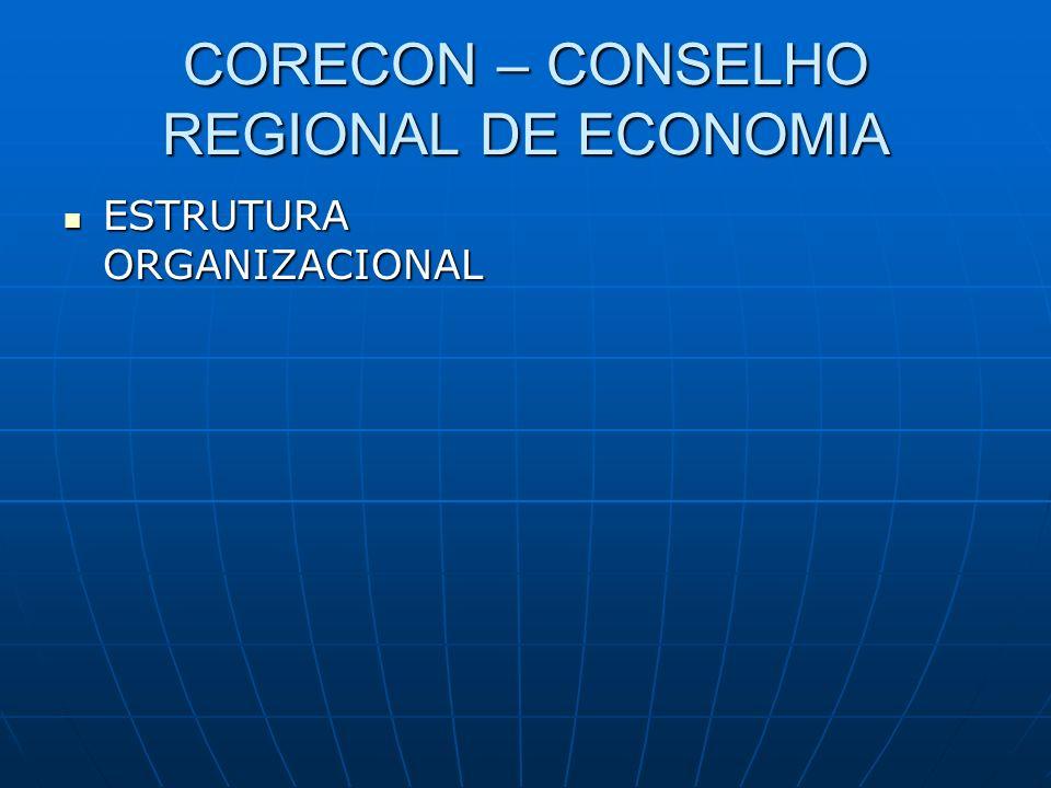 CORECON – CONSELHO REGIONAL DE ECONOMIA ESTRUTURA ORGANIZACIONAL ESTRUTURA ORGANIZACIONAL