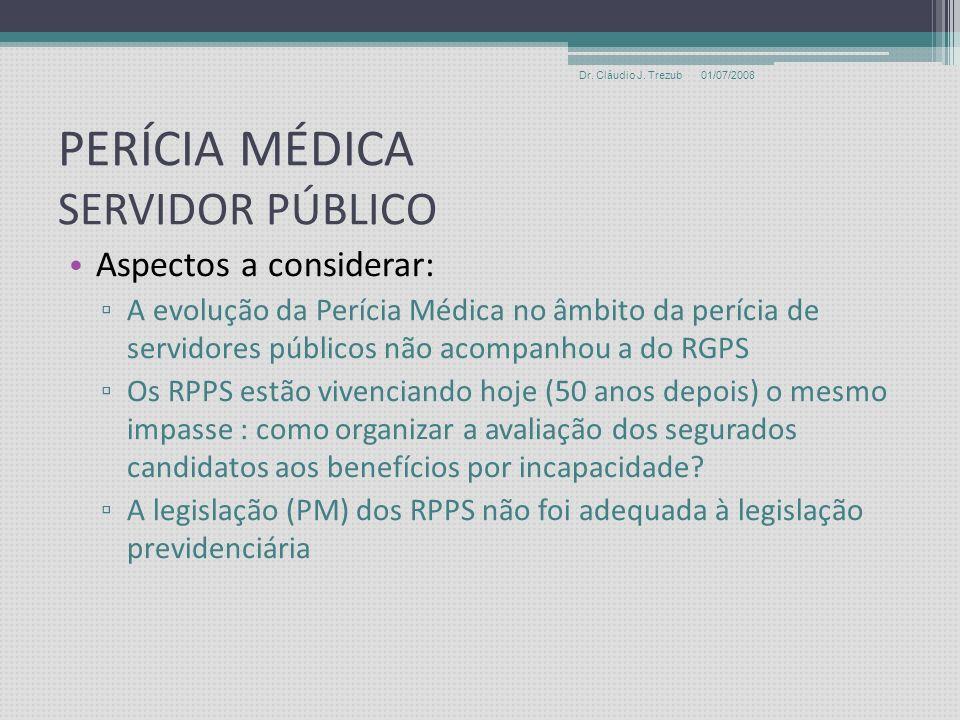 BENEFÍCIOS POR INCAPACIDADE Conceitos Fundamentais e Importância 01/07/2008Dr. Cláudio J. Trezub