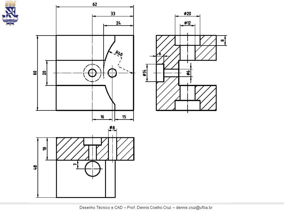 Desenho Técnico e CAD – Prof. Dennis Coelho Cruz – dennis.cruz@ufba.br