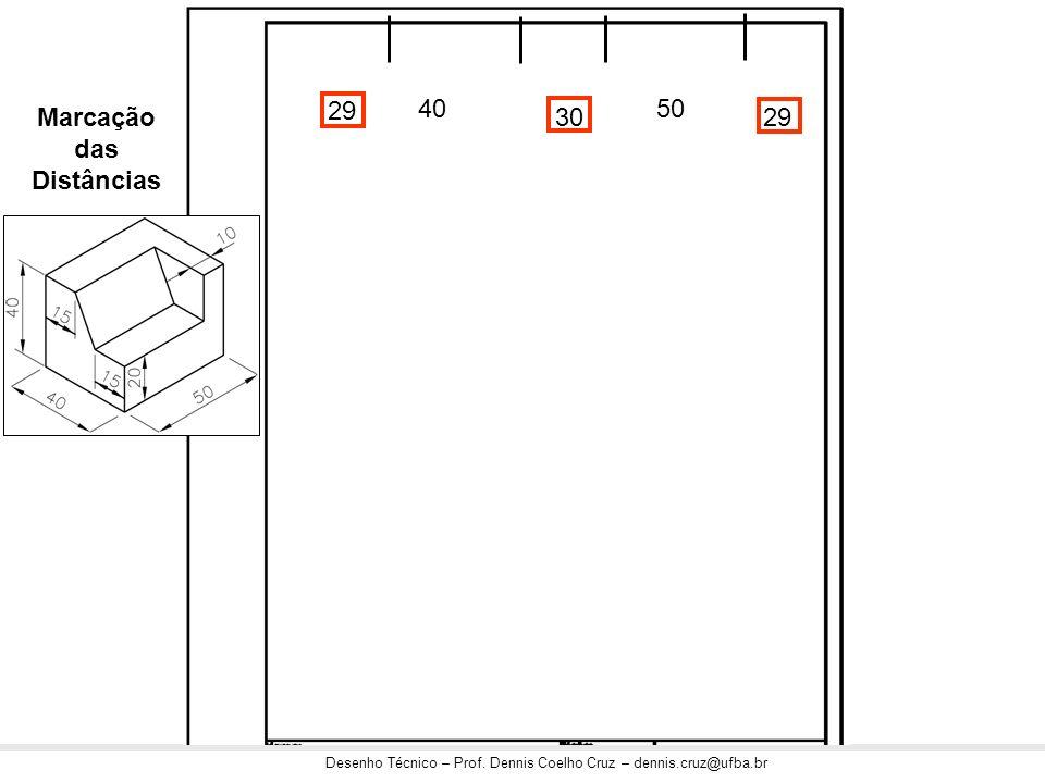 Desenho Técnico – Prof. Dennis Coelho Cruz – dennis.cruz@ufba.br 29 3029 4050 Marcação das Distâncias