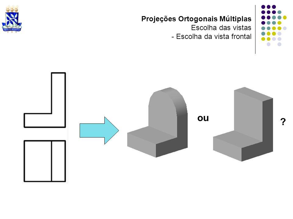 Projeções Ortogonais Múltiplas Escolha das vistas - Escolha da vista frontal ou ?
