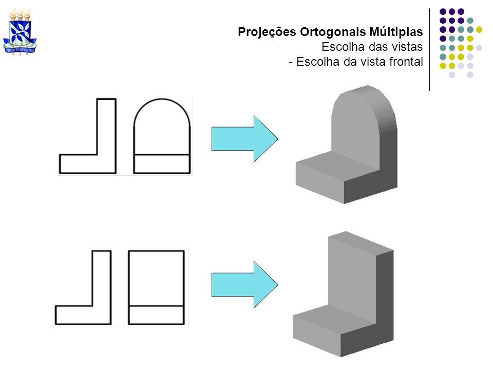 Projeções Ortogonais Múltiplas Escolha das vistas - Escolha da vista frontal