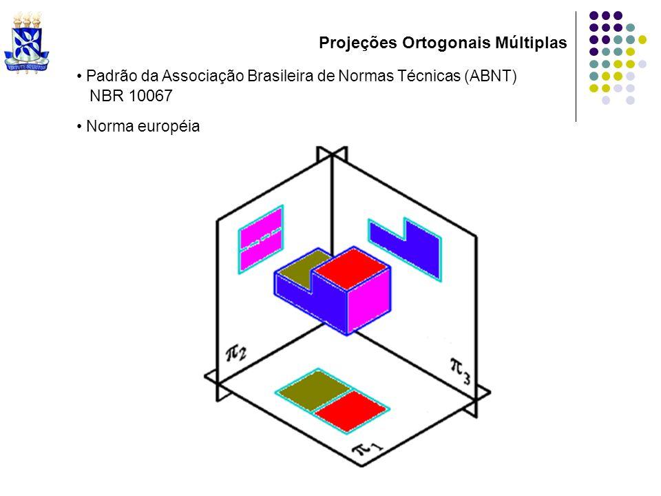 Padrão da Associação Brasileira de Normas Técnicas (ABNT) N BR 10067 Norma européia Projeções Ortogonais Múltiplas