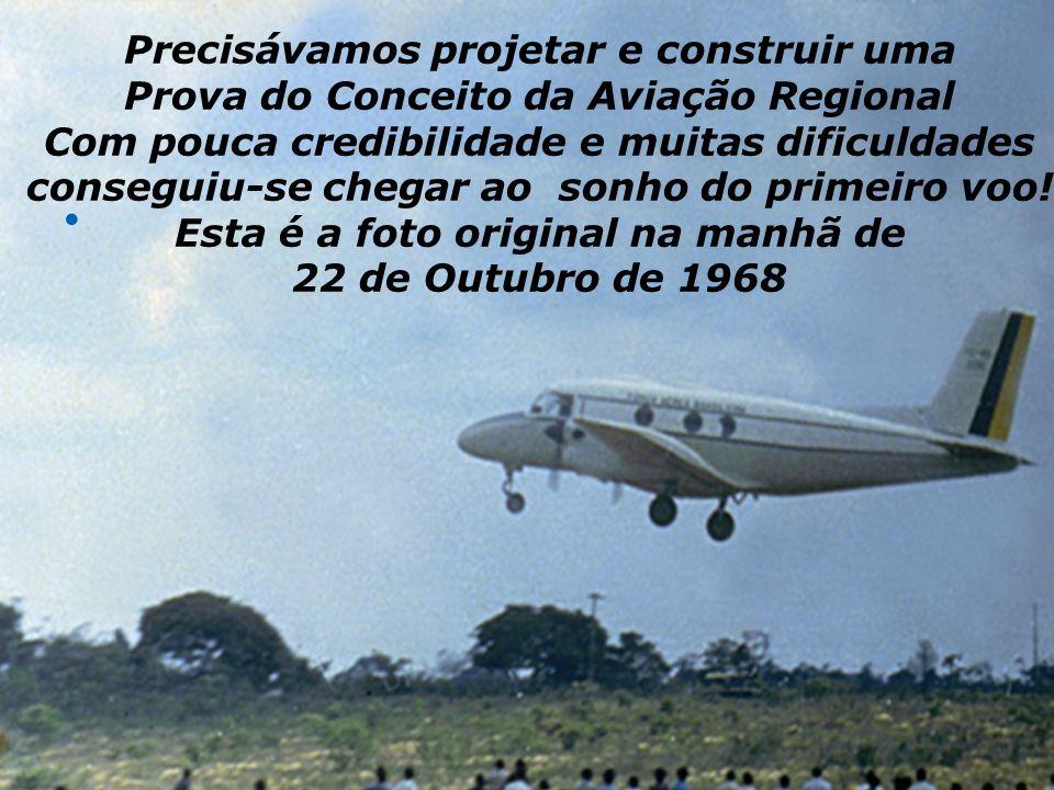 Precisávamos projetar e construir uma Prova do Conceito da Aviação Regional Com pouca credibilidade e muitas dificuldades conseguiu-se chegar ao sonho