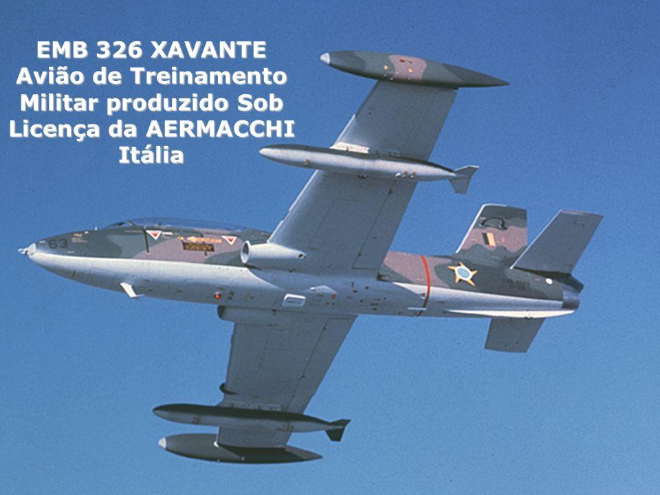 EMB 326 XAVANTE Avião de Treinamento Militar produzido Sob Licença da AERMACCHI Itália