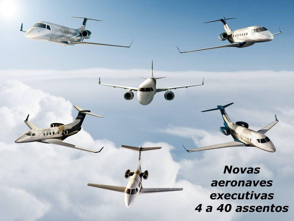 Novas aeronaves executivas 4 a 40 assentos