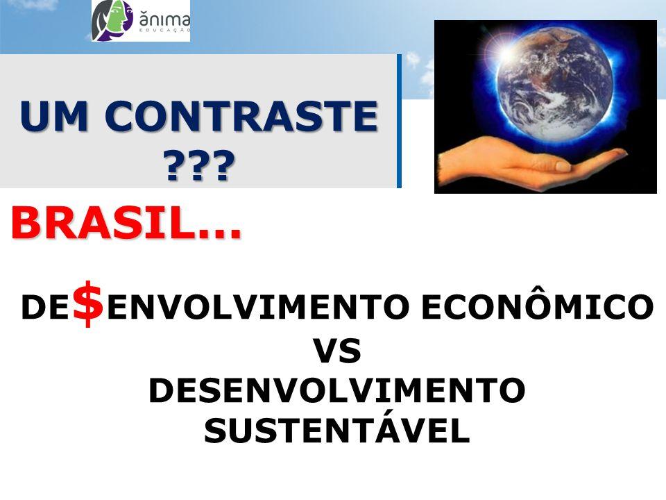 UM CONTRASTE ??? BRASIL... DE $ ENVOLVIMENTO ECONÔMICO VS DESENVOLVIMENTO SUSTENTÁVEL