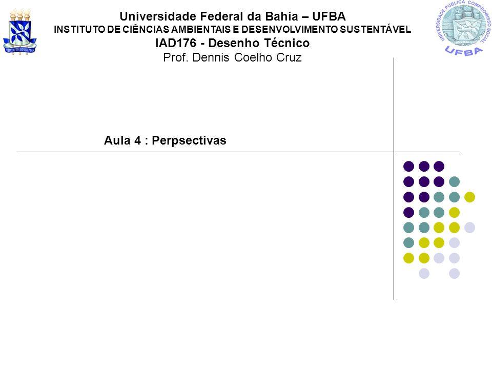 Aula 4 : Perpsectivas Universidade Federal da Bahia – UFBA INSTITUTO DE CIÊNCIAS AMBIENTAIS E DESENVOLVIMENTO SUSTENTÁVEL IAD176 - Desenho Técnico Pro