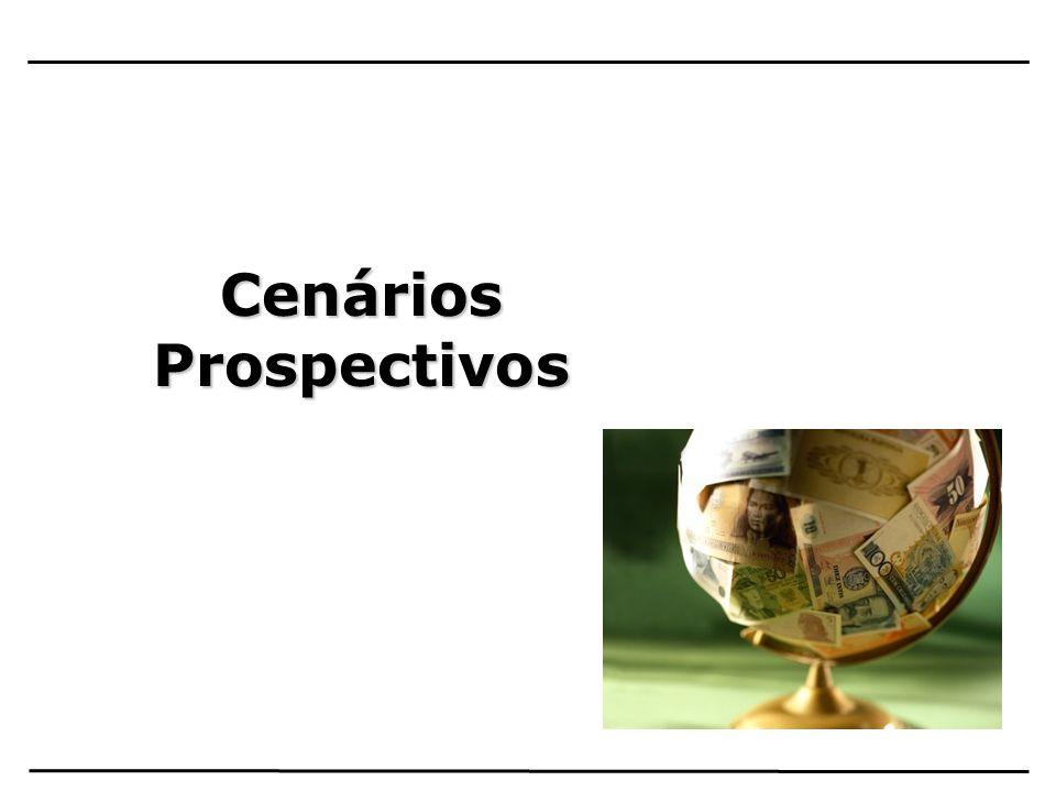 Cenário Global : Forte desaceleração econômica mundial com recessão nas economias mais desenvolvidas, em função das mesmas carregarem a maior parte dos problemas de crédito em suas Instituições Financeiras Projeções para 2009: –EUA: -2,5 % –Japão : -5,4% –Zona do Euro : -3,7% –China : 8,0% –Brasil : 0,6%