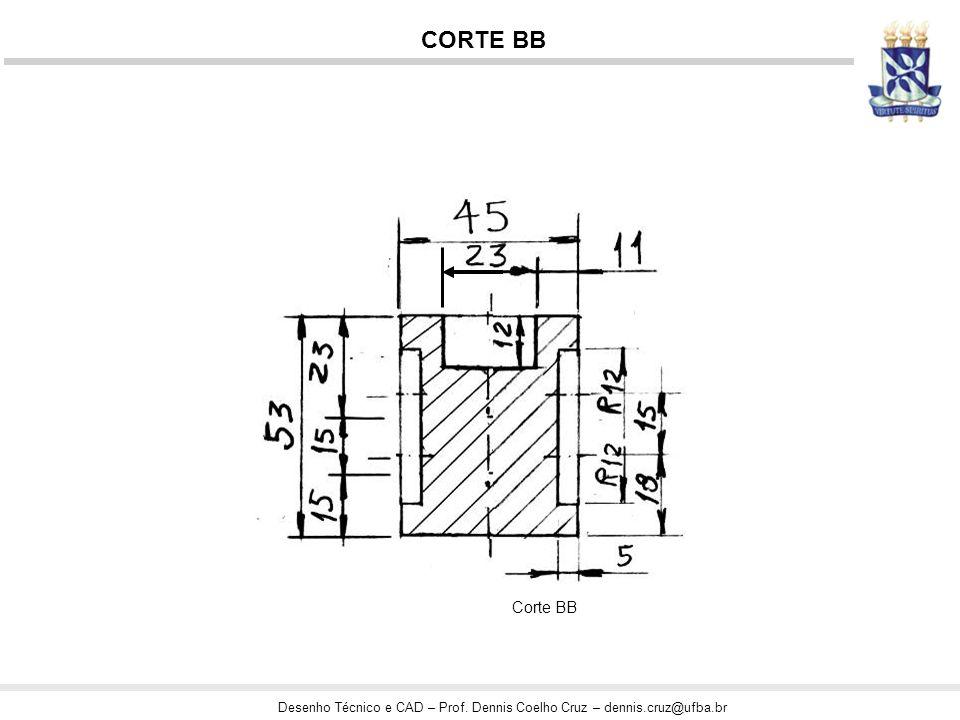 Desenho Técnico e CAD – Prof. Dennis Coelho Cruz – dennis.cruz@ufba.br CORTE BB Corte BB