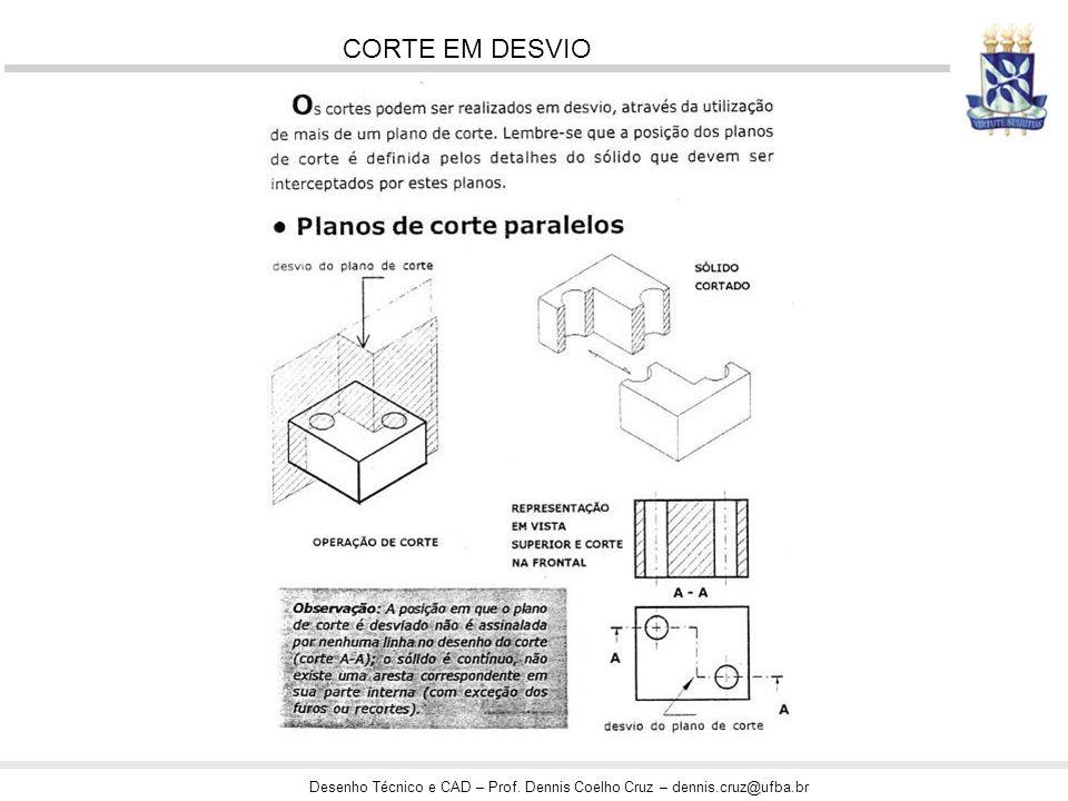 Desenho Técnico e CAD – Prof. Dennis Coelho Cruz – dennis.cruz@ufba.br CORTE EM DESVIO