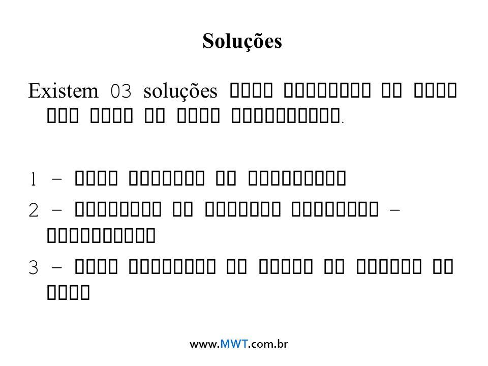 www.MWT.com.br Soluções Existem 03 soluções para projetar um Rede sem Fios de alto desempenho. 1 – Usar antenas de Qualidade 2 – Realizar um Projeto A