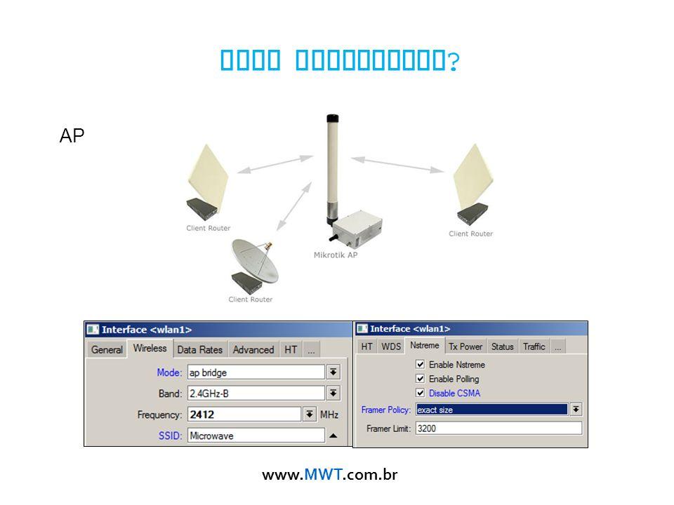 www.MWT.com.br Como configurar ? AP