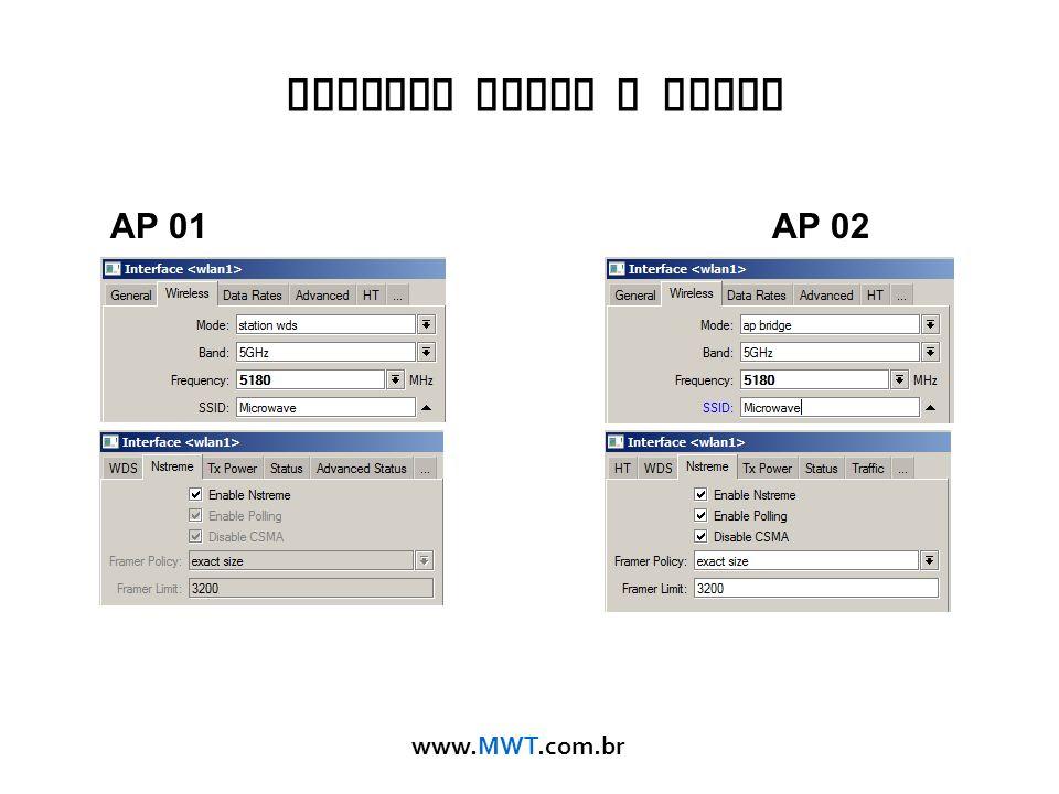 www.MWT.com.br Nstreme Ponto a Ponto AP 01AP 02