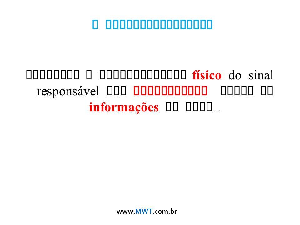 www.MWT.com.br O Eletromagnetismo descreve o comportamento físico do sinal respons á vel por transportar todas as informações da rede...