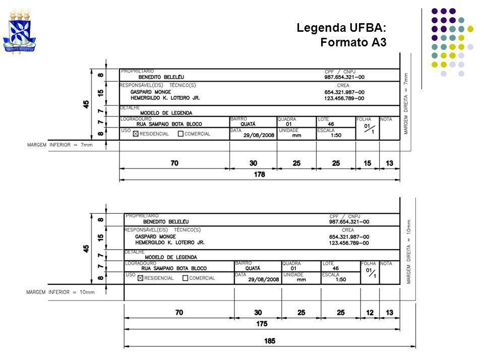 Legenda UFBA: Formato A3