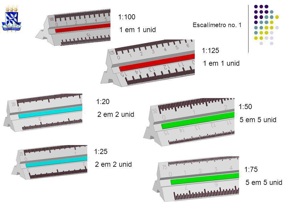 1:100 1 em 1 unid 1:125 1 em 1 unid 1:20 2 em 2 unid 1:25 2 em 2 unid 1:50 5 em 5 unid 1:75 5 em 5 unid Escalímetro no. 1