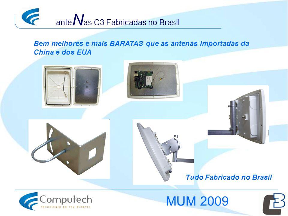 Tudo Fabricado no Brasil ante N as C3 Fabricadas no Brasil Bem melhores e mais BARATAS que as antenas importadas da China e dos EUA MUM 2009