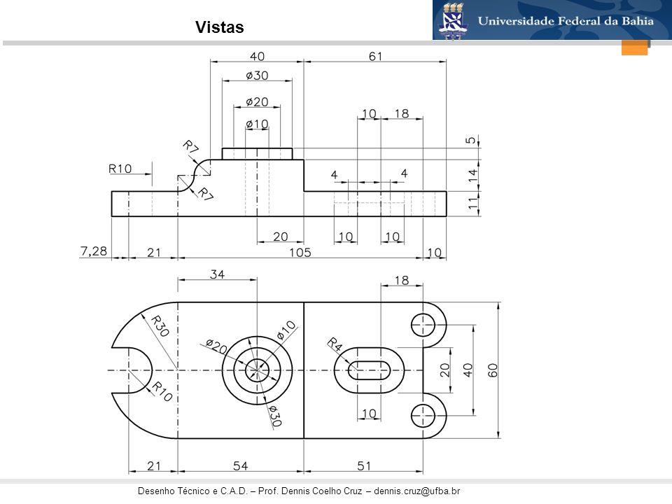 Desenho Técnico e C.A.D. – Prof. Dennis Coelho Cruz – dennis.cruz@ufba.br Vistas