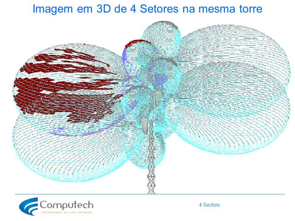 4 Sectors Imagem em 3D de 4 Setores na mesma torre