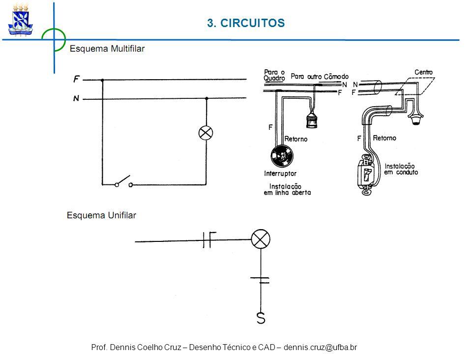 Prof. Dennis Coelho Cruz – Desenho Técnico e CAD – dennis.cruz@ufba.br 3. CIRCUITOS